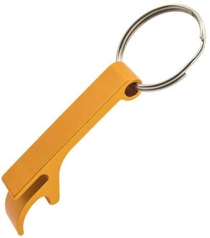 Klíčenka s otvírákem, žlutá