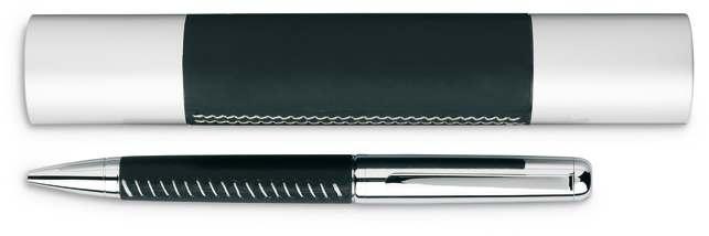 Černé kovové kuličkové pero v hliníkovém pouzdře