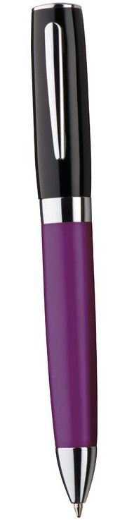 Fialové kovové kuličkové pero Frisco