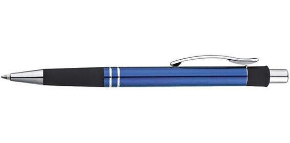 Kovové modré kuličkové pero