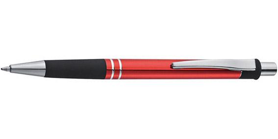 Kovové červené kuličkové pero