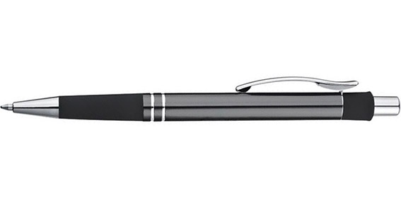 Kovové šedé kuličkové pero s potiskem