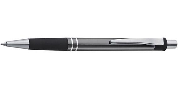 Kovové šedé kuličkové pero