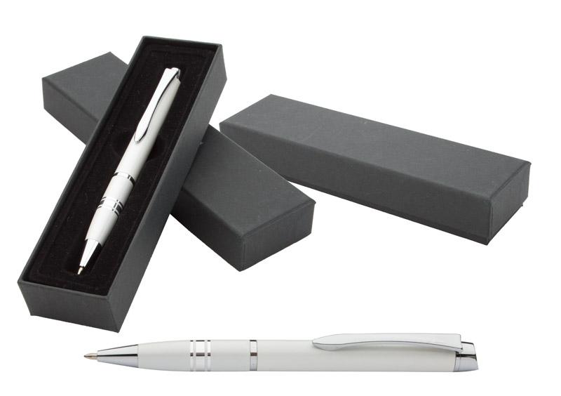Elegantní bílé lakované kuličkové pero