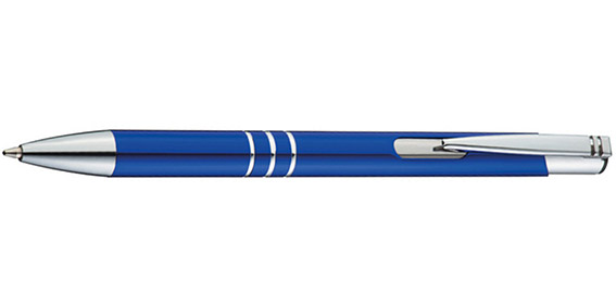 Modré kuličkové pero Ascot