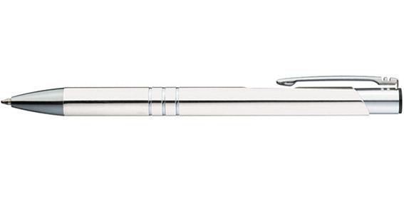 Bílé kuličkové pero Ascot