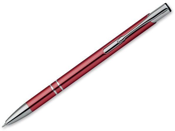 OLEG SLIM kovové kuličkové pero, modrá náplň 0,5 mm s nízkou viskozitou, bordó
