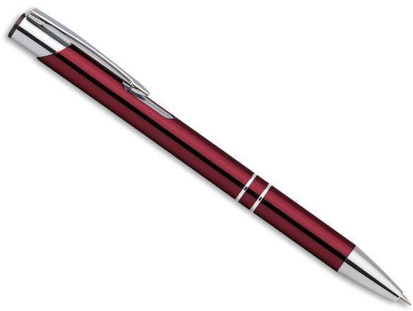 OLEG kovové kuličkové pero, modrá náplň, červená