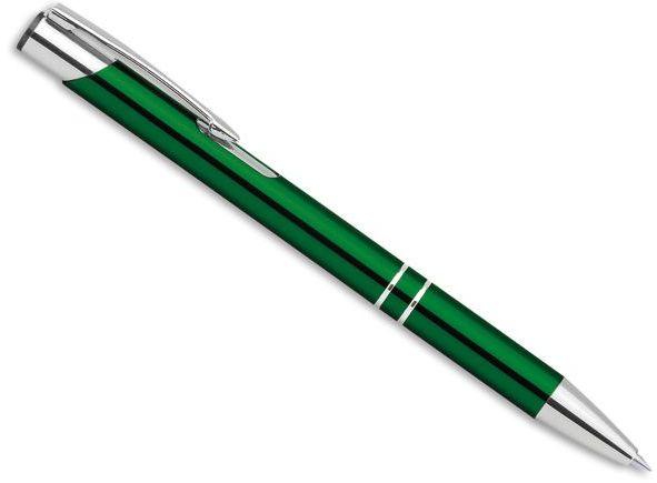 OLEG kovové kuličkové pero, modrá náplň, zelená