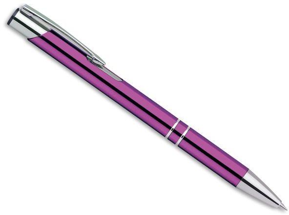 OLEG kovové kuličkové pero, modrá náplň, fialová