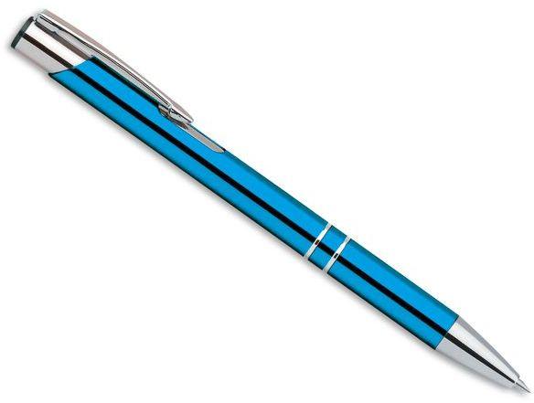 OLEG kovové kuličkové pero, modrá náplň, tyrkysová