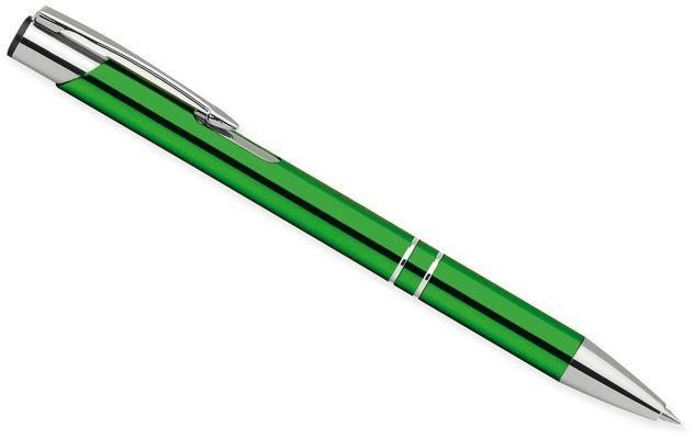 OLEG kovové kuličkové pero, modrá náplň, světle zelená