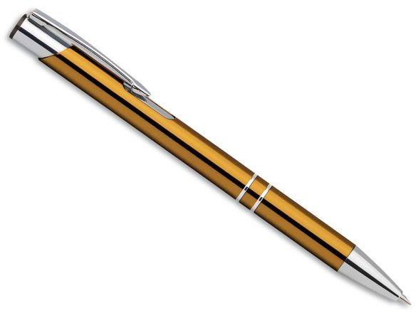 OLEG kovové kuličkové pero, modrá náplň, zlatá