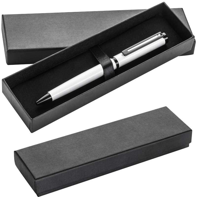 Bílé kuličkové pero s černou spodní slitinou