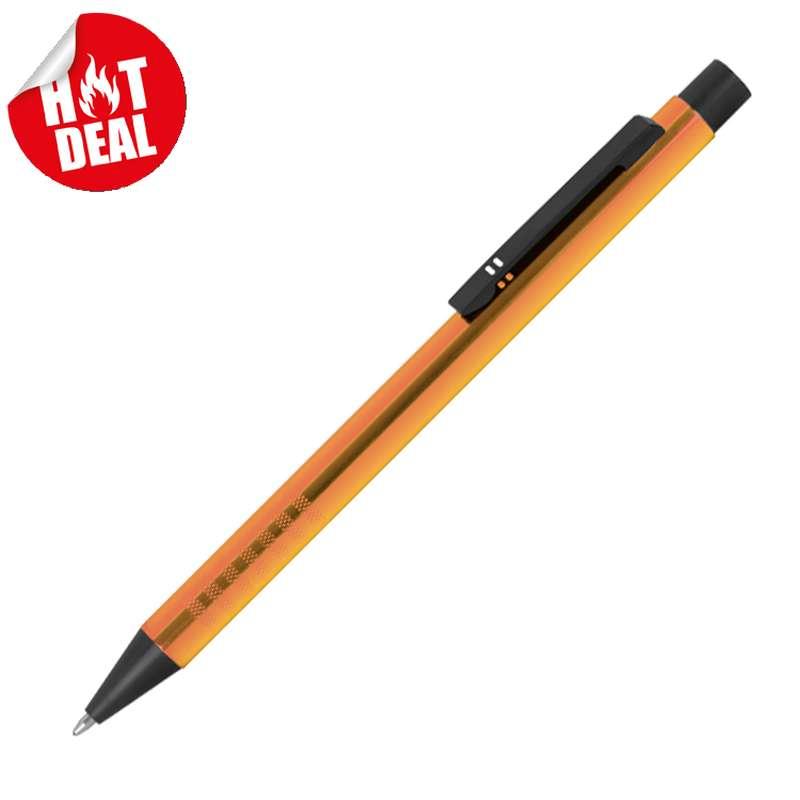 Zatahovací kuličkové pero z kovu
