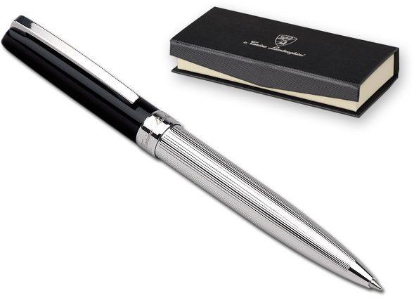 LIVORNO kuličkové pero z masivního stříbra LAMBORGHINI, černá