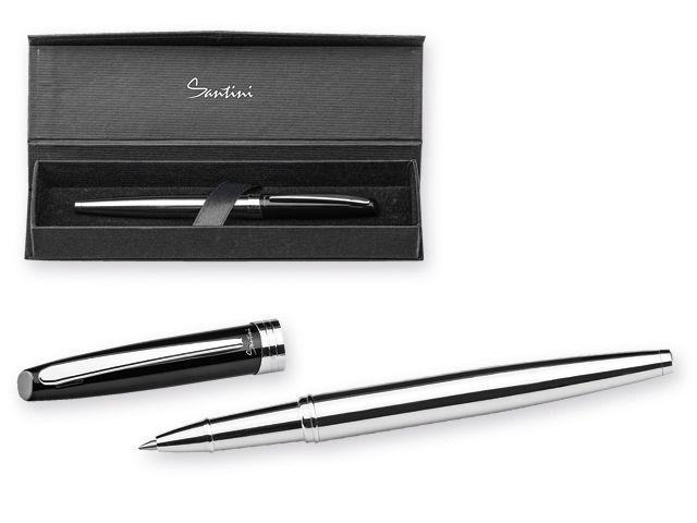 AZARIA ROLLER kovové keramické pero v dárkové krabičce, modrá náplň, SANTINI