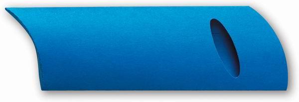 Modré papírové pouzdro na pero