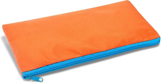 Pouzdro na tužky oranžové s potiskem