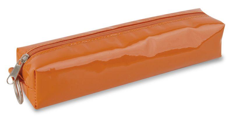 Lesklé pouzdro na tužky oranžové