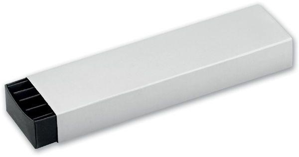 SABINA papírová krabička na 1 nebo 2 pera, stříbrná