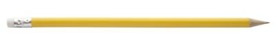 Žlutá tužka s gumou