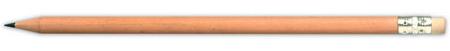 Béžová tužka s gumou