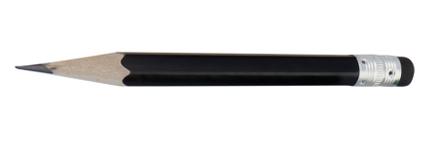 Minik černá mini tužka s potiskem