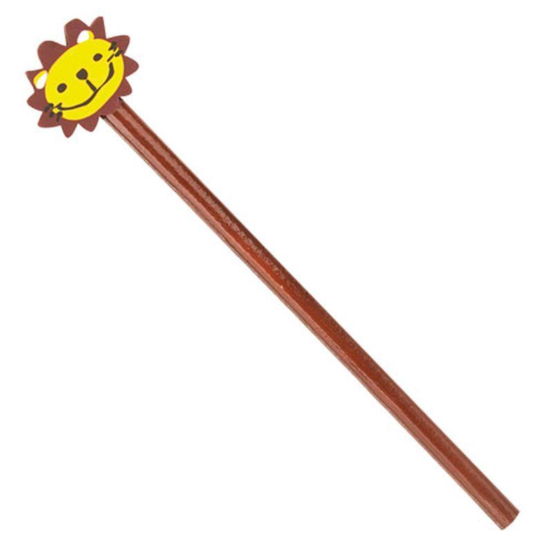 Dřevěná tužka se lvem hnědá