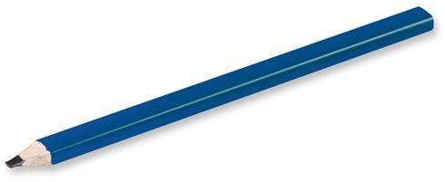 GRAFIT dřevěná grafitová tesařská tužka, modrá s potiskem