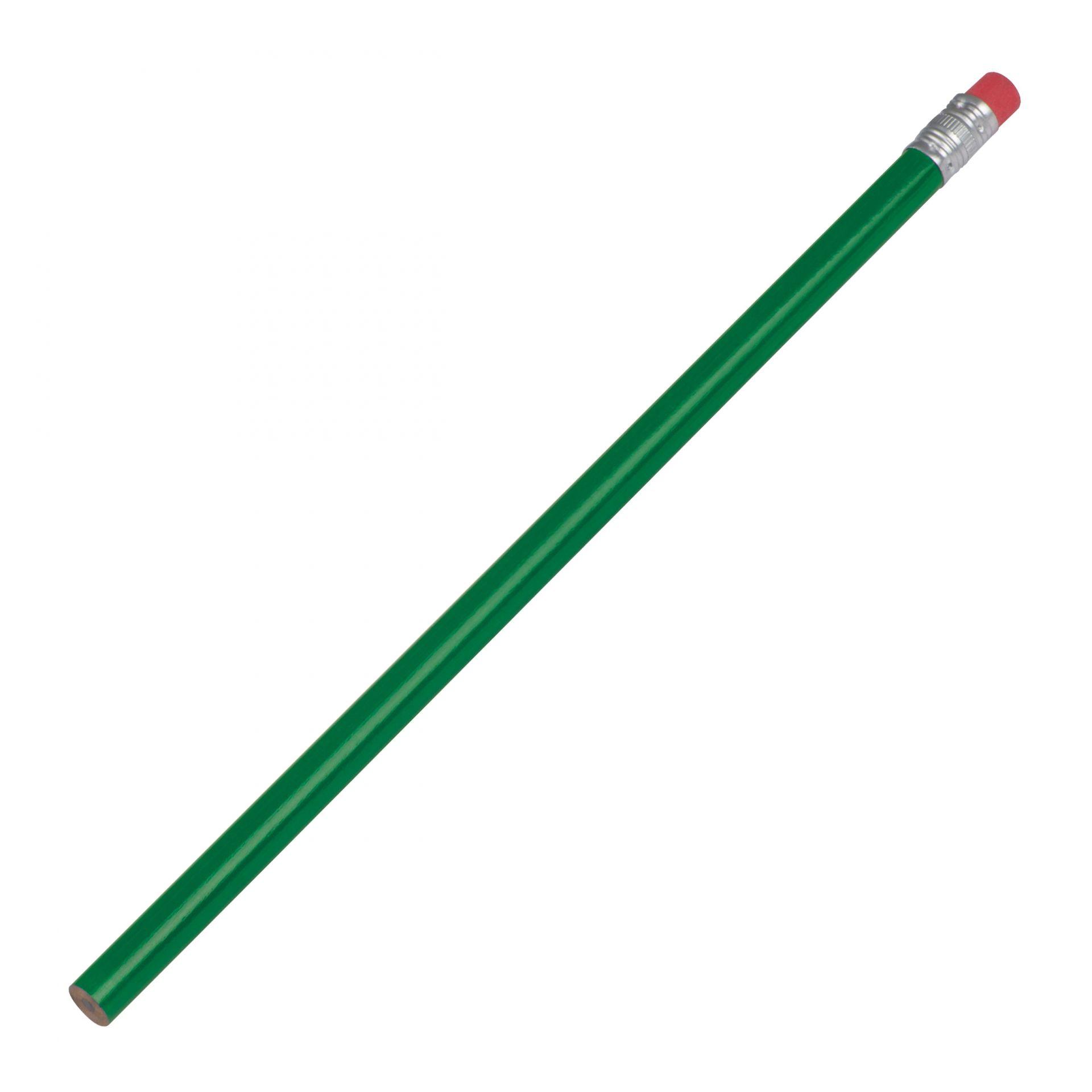 Dřevěná tužka s červenou gumou