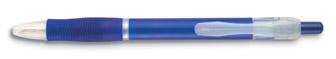 Transparentní pero modré