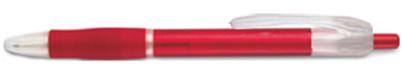 Transparentní pero červené