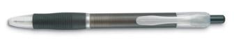 Transparentní pero šedé