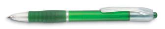 Transparentní pero zelené