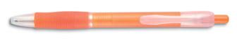 Transparentní pero oranžové
