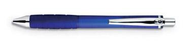 Frostované modré kuličkové pero