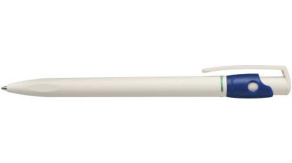 Biologicky odbouratelné modré pero