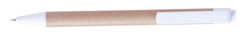 Ecolour béžové kuličkové pero s potiskem