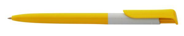 Perth žluté kuličkové pero s potiskem