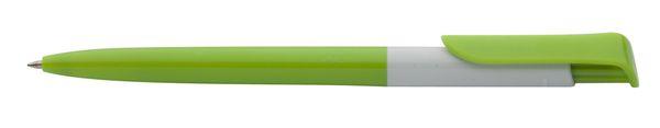 Perth zelené kuličkové pero s potiskem