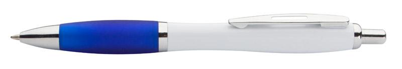 Modré kuličkové pero s lesklými díly