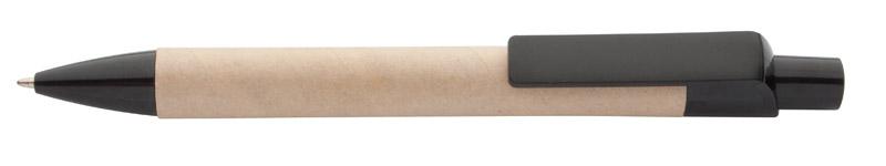 Kuličkové pero z recyklovaného papíru černé