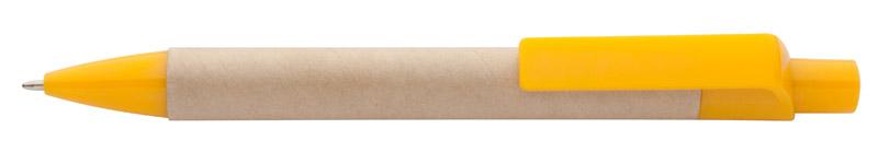 Kuličkové pero z recykolovaného papíru žluté