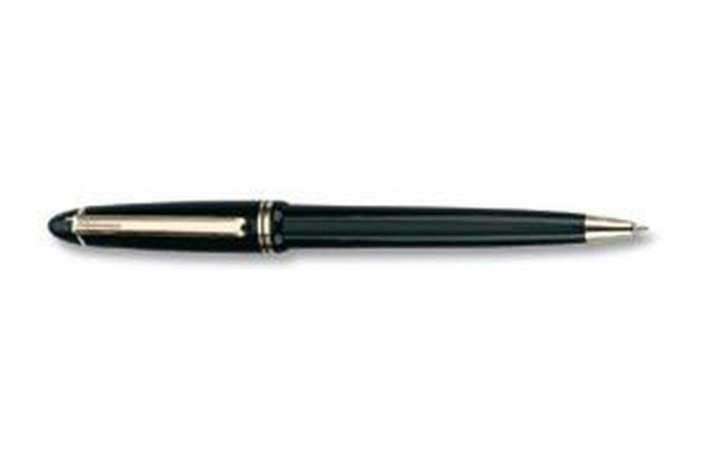 Plastové černé kuličkové pero