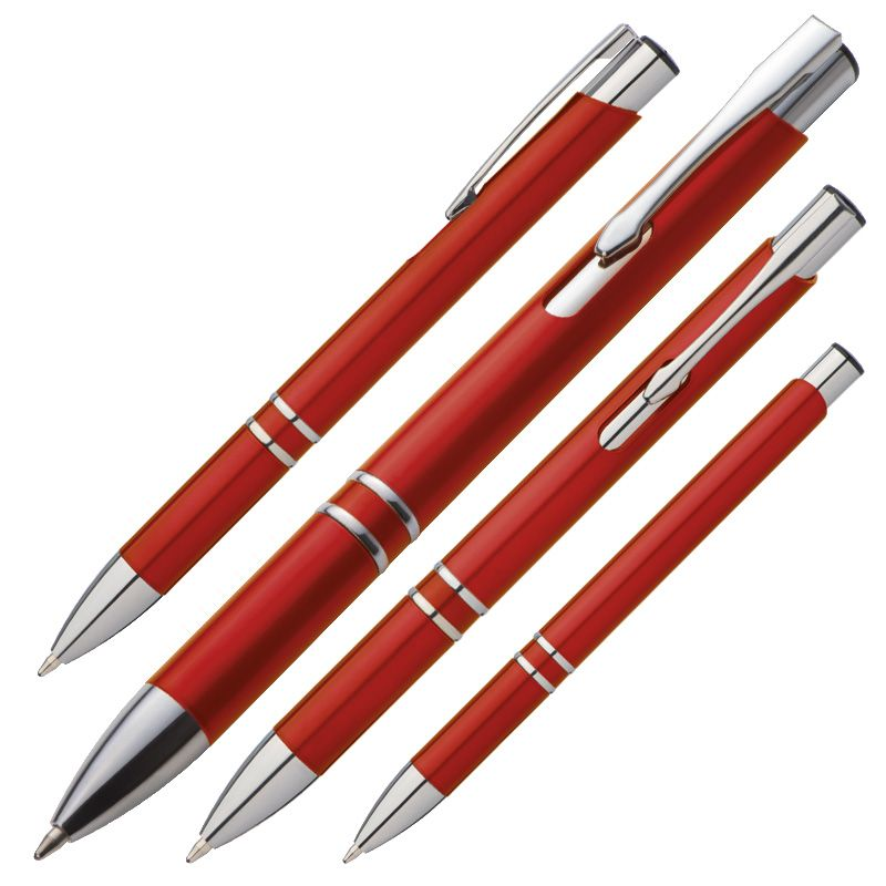 Kuličkové pero červené s potiskem