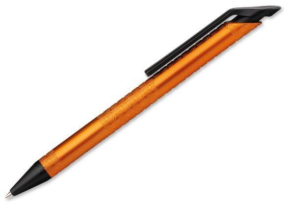 DELANCY METALIC plastové kuličkové pero, modrá náplň, zlatá