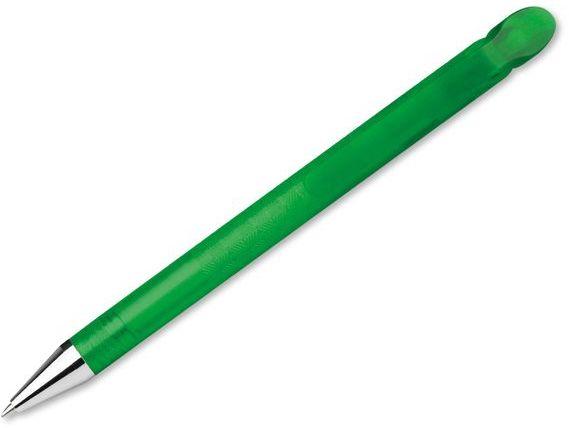 DELANCY FROSTY plastové kuličkové pero, modrá náplň, transp., frosty zelená