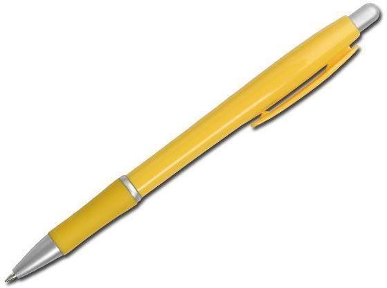 OCTAVIO plastové kuličkové pero, modrá náplň, žlutá