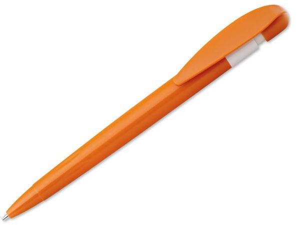 CANDIS plastové kuličkové pero, modrá náplň, oranžová s potiskem